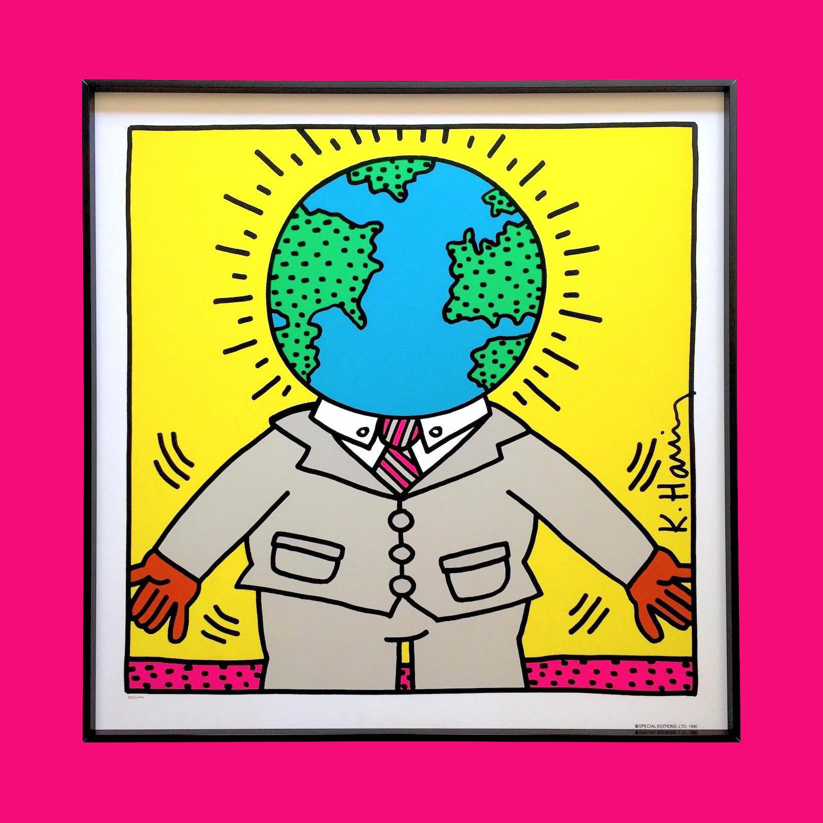 Keith Haring Earthman Silkscreen 1986